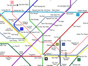 Ho Chi Minh City Metro Concept Map